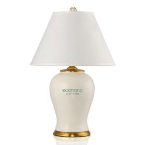 đèn bàn đế trắng sứ