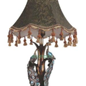 đèn bàn khổng tước