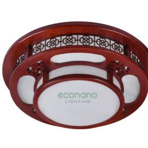 Đèn ốp gỗ hình tròn