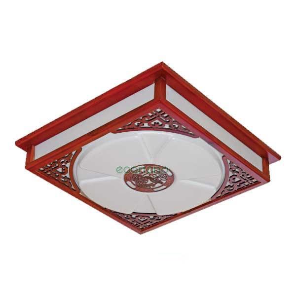 Đèn ốp trần gỗ hình vuông