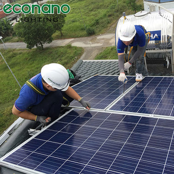 lắp đặt hệ thống điện mặt trời áp mái hải phòng