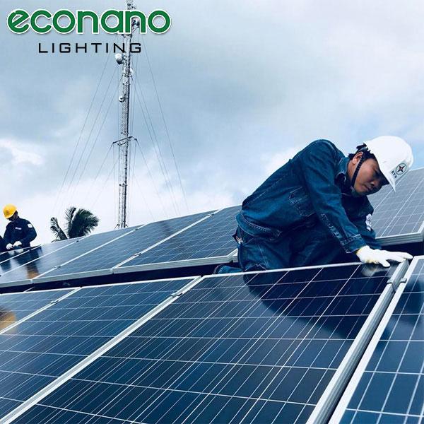 thi công điện mặt trời áp mái giá rẻ