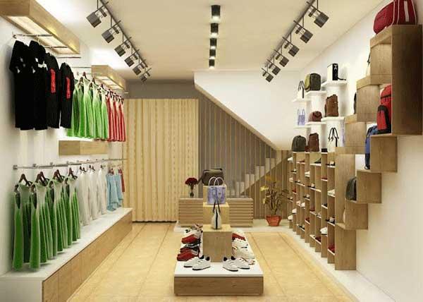 lắp đèn chiếu sáng cho shop quần áo cao cấp