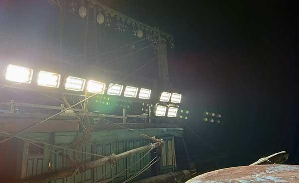 sử dụng đèn led cho tàu cá tại hải phòng