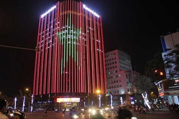 đèn hiệu ứng tòa nhà giá rẻ tại hải phòng