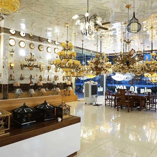 đơn vị bán đèn trang trí showroom hải phòng