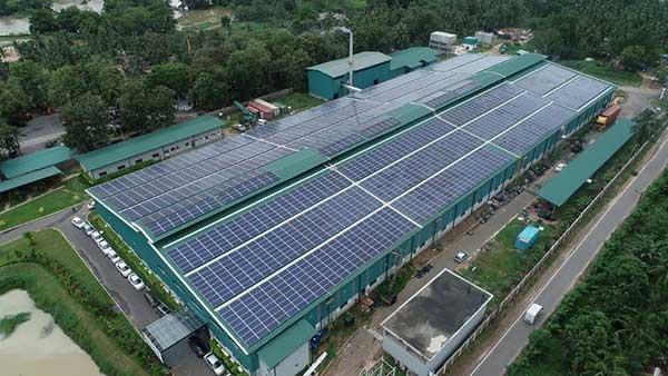 thi công điện mặt trời áp mái cho khu công nghiệp tại hải phòng