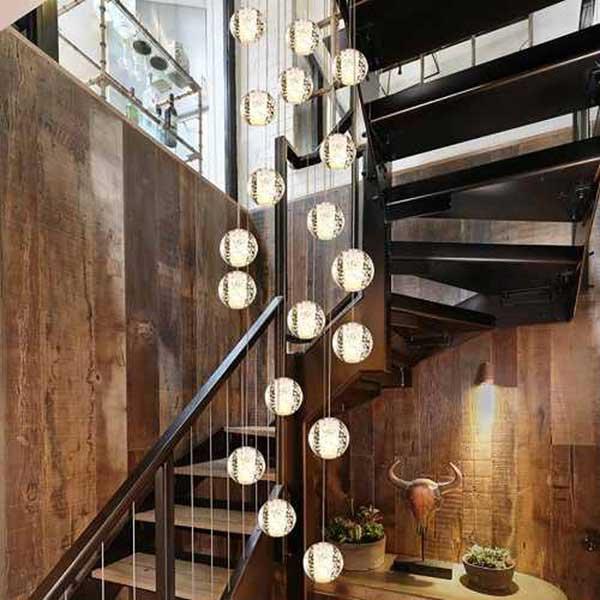 đèn thả thông tầng cầu thang tại hải phòng