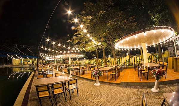 đèn trang trí quán cafe ngoài trời tại hải phòng